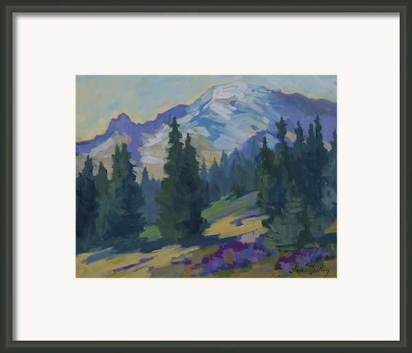 Spring At Mount Rainier Framed Print By Diane Mcclary