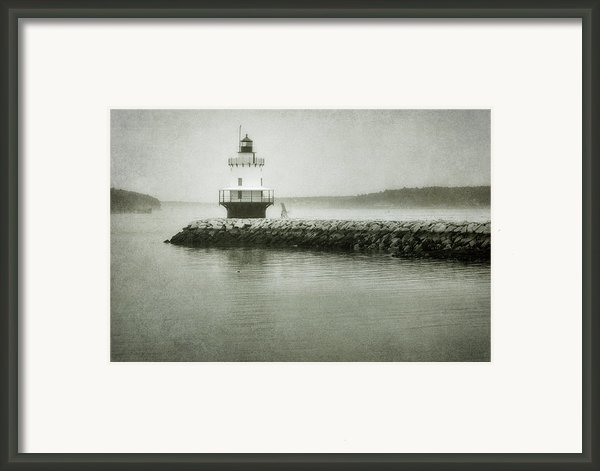 Spring Point Ledge Light Framed Print By Joan Carroll