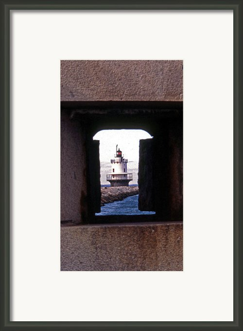 Spring Point Ledge Lightouse Framed Print By Skip Willits