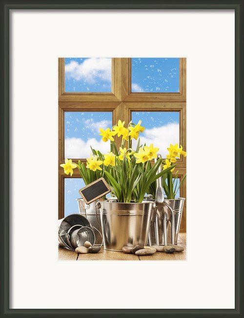 Spring Window Framed Print By Christopher And Amanda Elwell