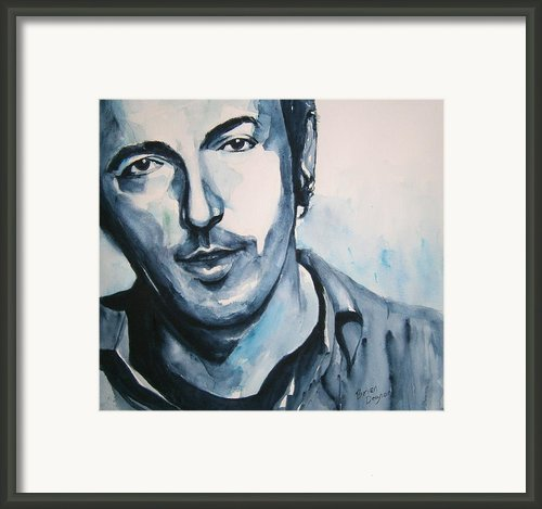Springsteen Framed Print By Brian Degnon