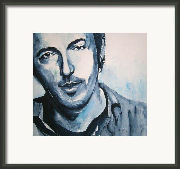 Springsteen Framed Print By Brian Degnon