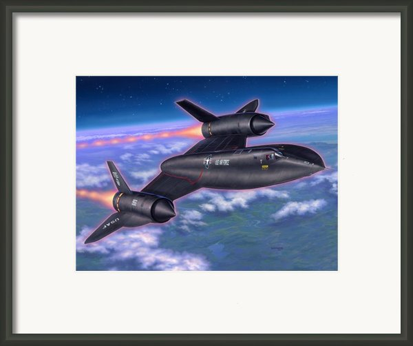 Sr-71 Blackbird Framed Print By Stu Shepherd