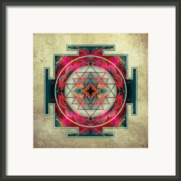 Sri Yantra  Framed Print By Filippo B