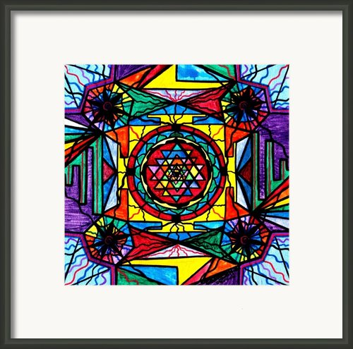 Sri Yantra Framed Print By Teal Eye  Print Store