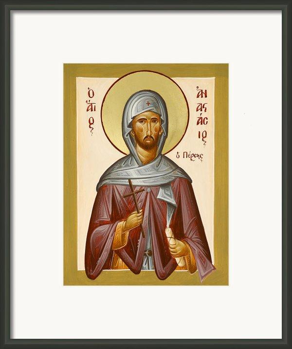 St Anastasios The Persian Framed Print By Julia Bridget Hayes