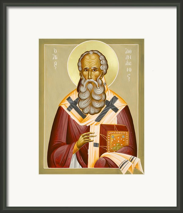 St Athanasios The Great Framed Print By Julia Bridget Hayes