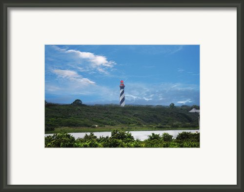 St. Augustine Lighthouse Framed Print By Judy Hall-folde