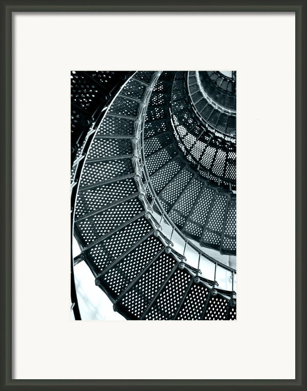 St Augustine Lighthouse Staircase Framed Print By Christine Till