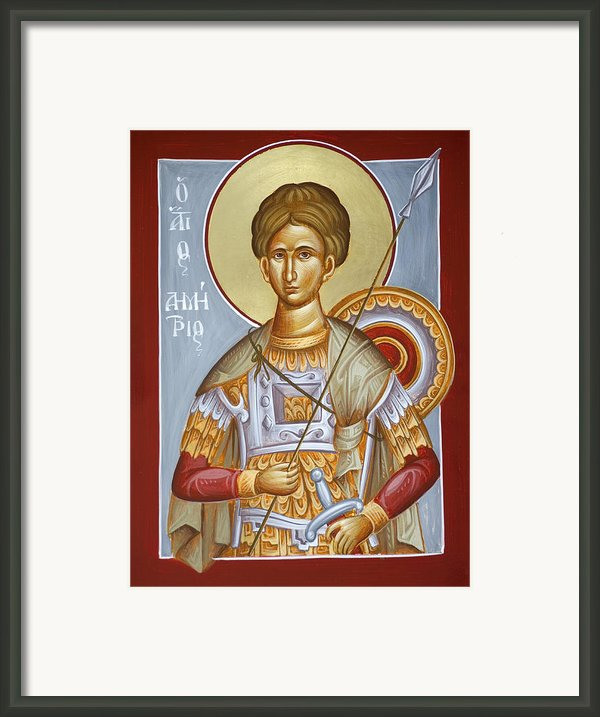 St Dimitrios The Myrrhstreamer Framed Print By Julia Bridget Hayes