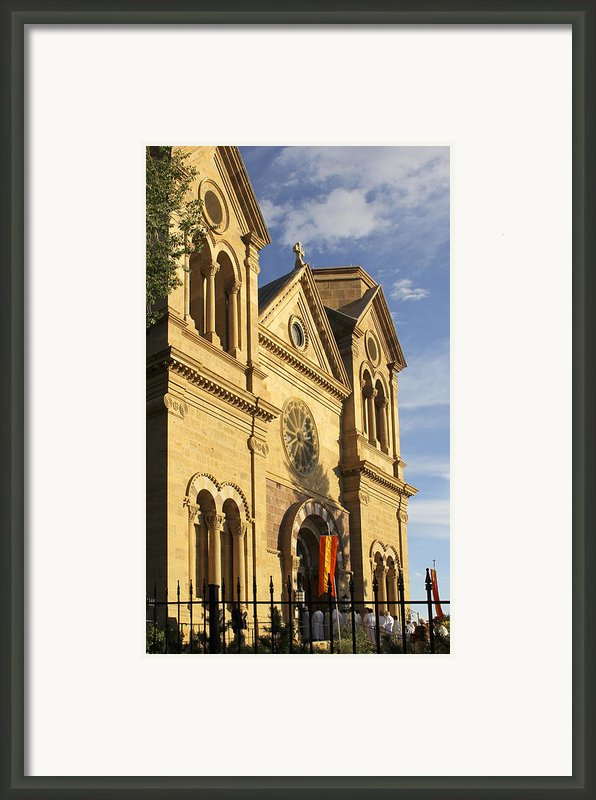 St. Francis Cathedral - Santa Fe Framed Print By Mike Mcglothlen