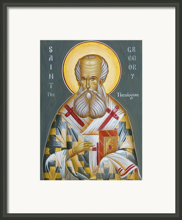 St Gregory The Theologian Framed Print By Julia Bridget Hayes