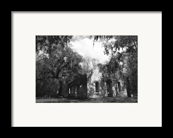 St Helena Chapel Of Ease Bw 2 Framed Print By Steven  Taylor