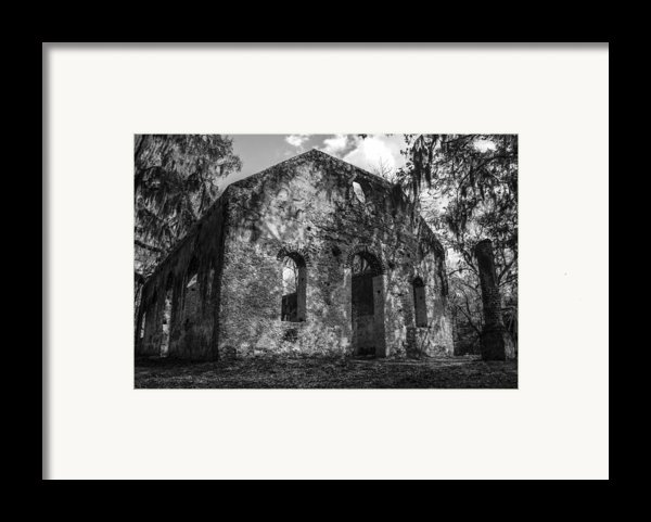 St Helena Chapel Of Ease  Bw 3 Framed Print By Steven  Taylor