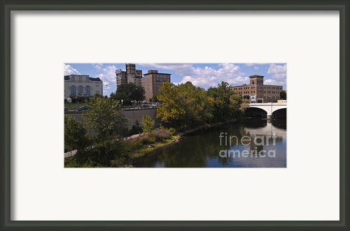 St. Joseph River Panorama Framed Print By Anna Lisa Yoder