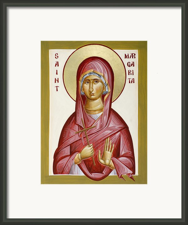 St Margarita Framed Print By Julia Bridget Hayes
