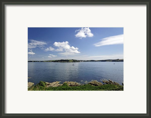 St Mawes From Pendennis Point Framed Print By Rod Johnson