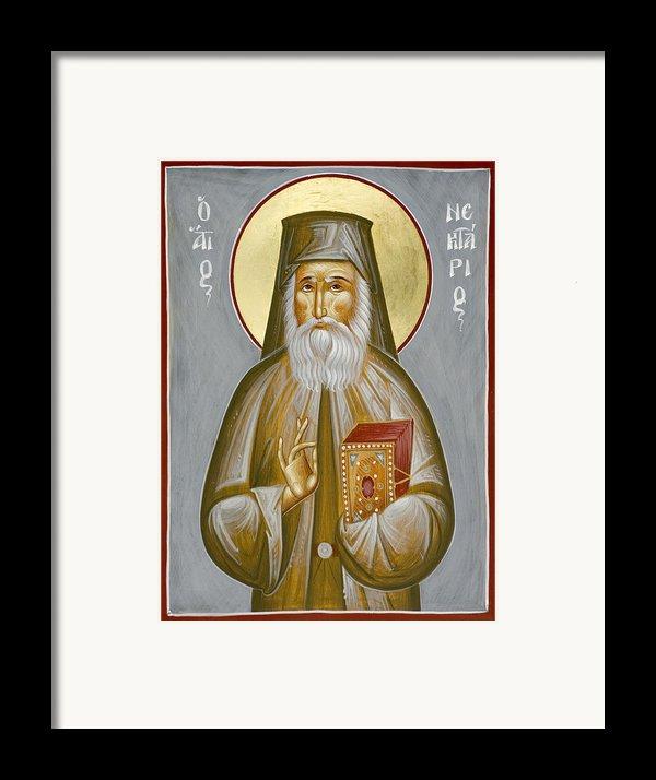 St Nektarios Of Aegina Framed Print By Julia Bridget Hayes