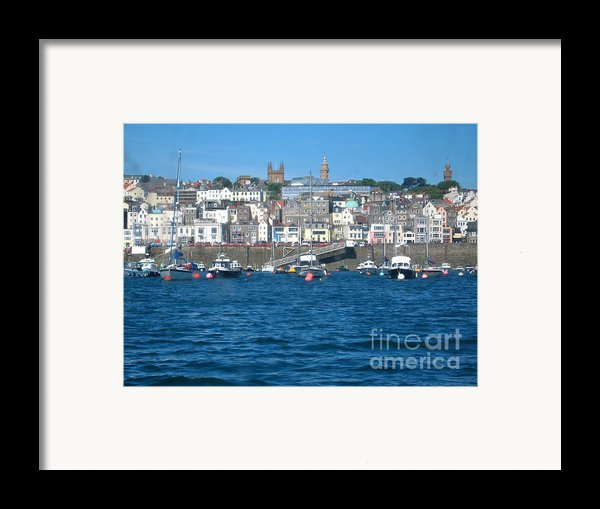 St Peters Port Guernsey  Framed Print By Phyllis Kaltenbach