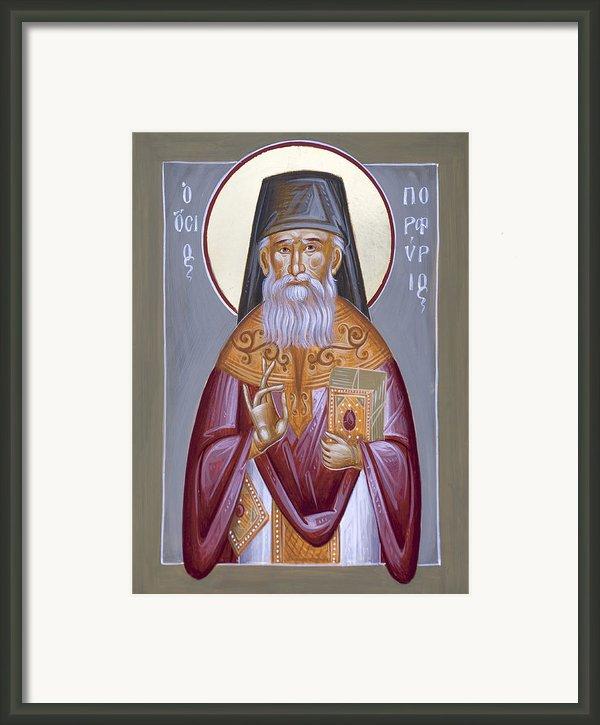 St Porphyrios The Kavsokalyvitis Framed Print By Julia Bridget Hayes
