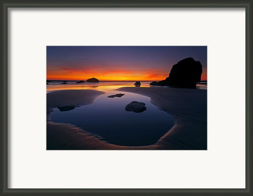 Stacks And Stones Framed Print By Mike  Dawson