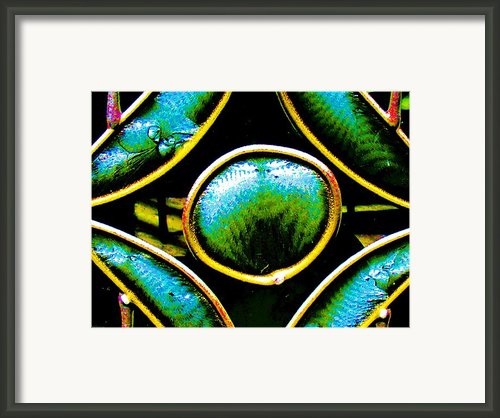 Stained Glass Eye Framed Print By Rebecca Flaig