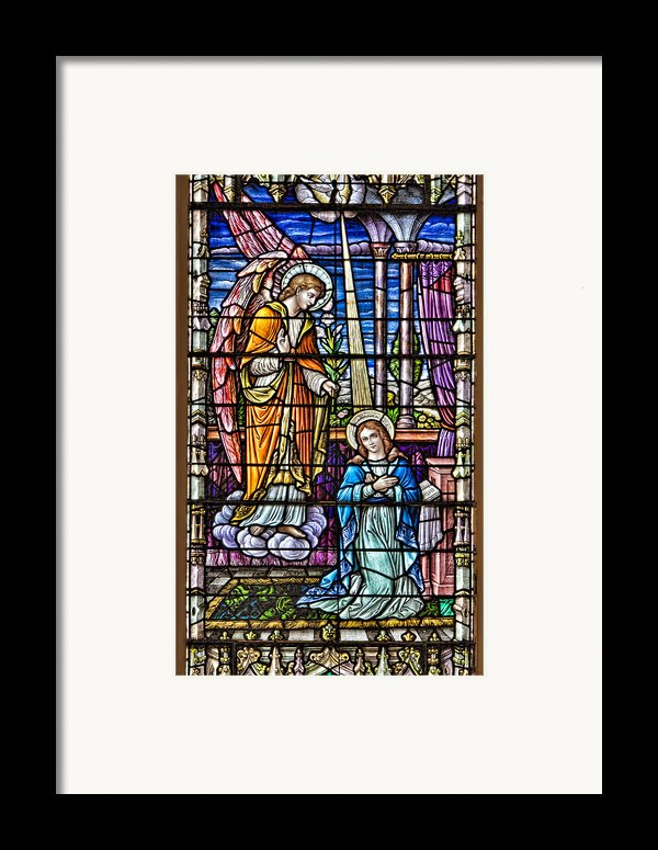 Stained Glass Framed Print By Susan Candelario
