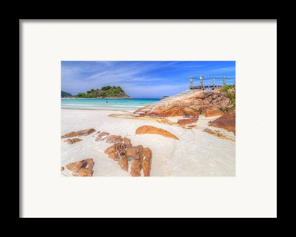 Stairs To Paradise  Framed Print By Mario Legaspi