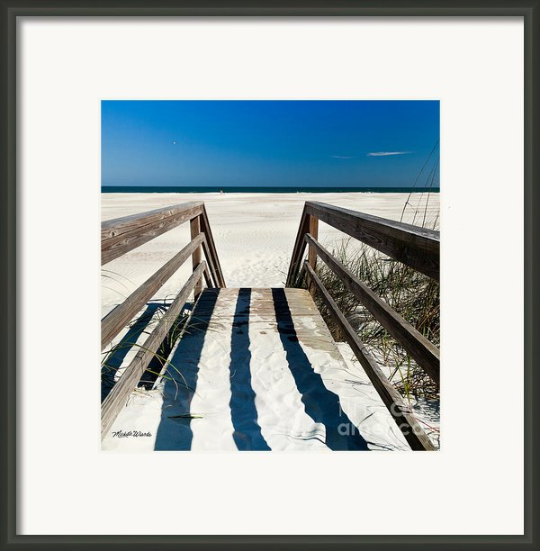 Stairway To Happiness And Possibilities Framed Print By Michelle Wiarda