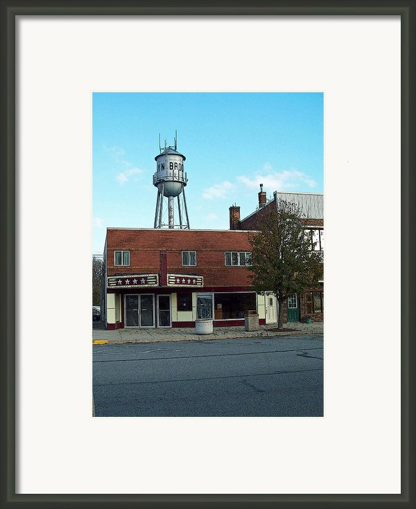 Star And Tower In Brooklyn Framed Print By Mj Olsen