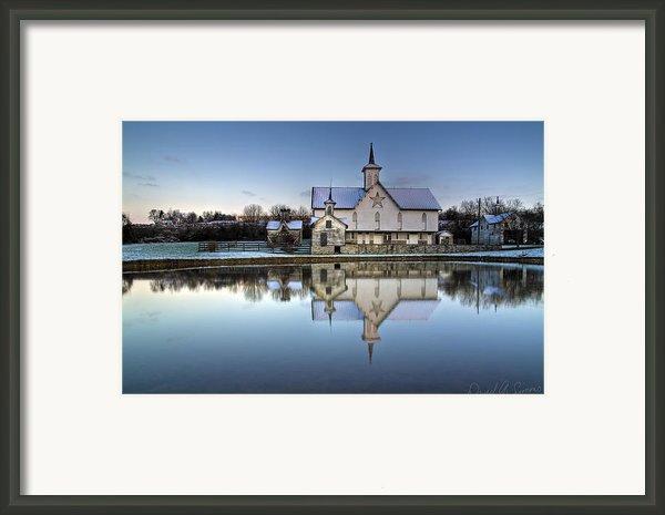 Star Barn Framed Print By David Simons