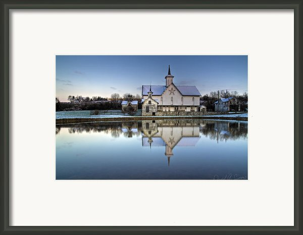 Star Barn Framed Print By David Simons
