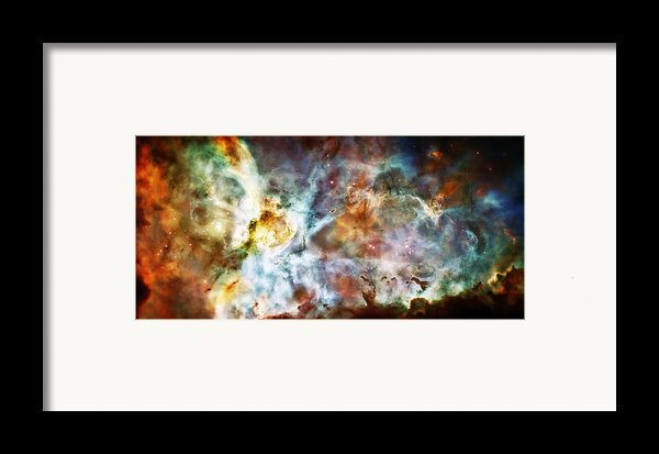 Star Birth In The Carina Nebula  Framed Print By The  Vault - Jennifer Rondinelli Reilly