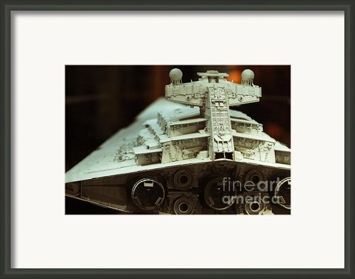 Star Destroyer Maquette Framed Print By Micah May