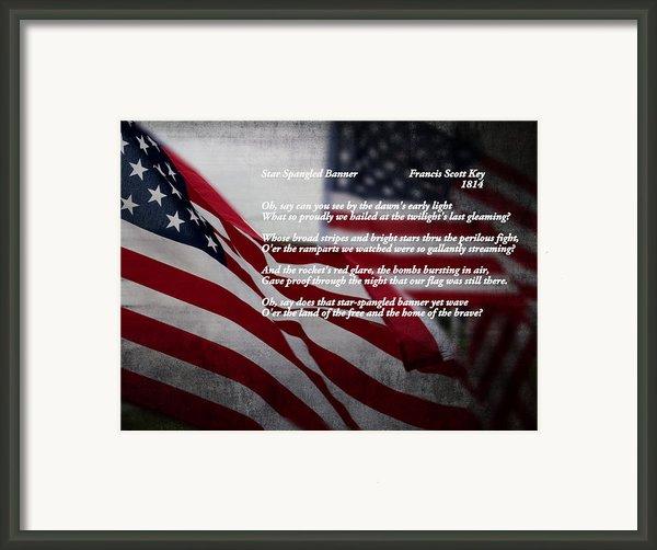 Star Spangled Banner  Framed Print By Ella Kaye
