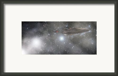Star Trek - Approaching The Neutral Zone Framed Print By Jason Politte