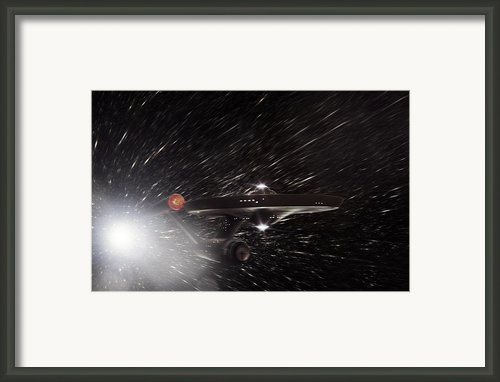 Star Trek - The Original Enterprise  Framed Print By Jason Politte