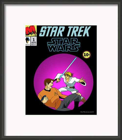 Star Trek Vs Star Wars Framed Print By Mista Perez Cartoon Art