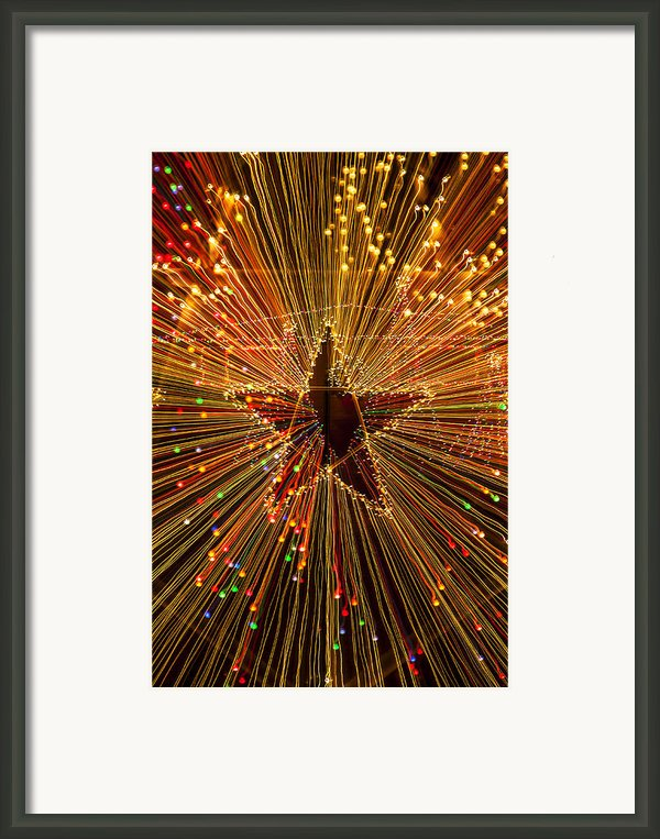 Star Zoom  Framed Print By Garry Gay