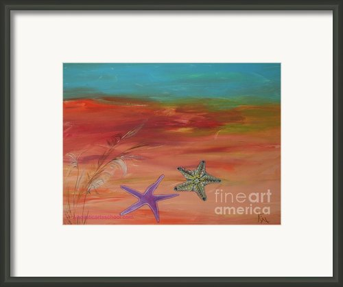 Starfish Framed Print By Painterartist Fin