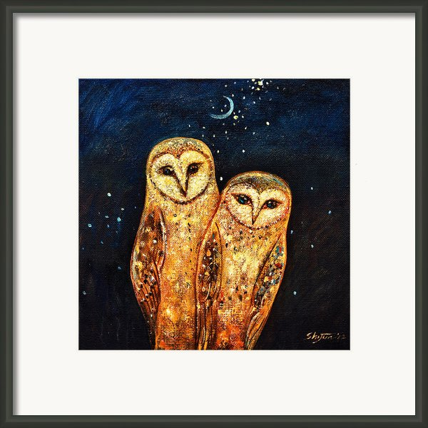 Starlight Owls Framed Print By Shijun Munns