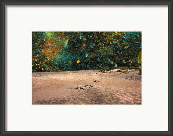 Starry Beach Night Framed Print By Betsy A Cutler Islands And Science