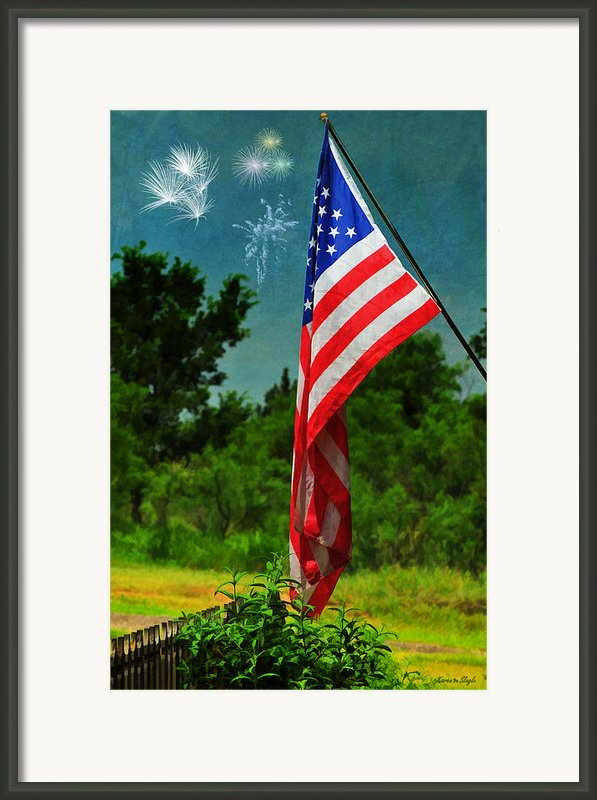 Stars And Stripes Forever Framed Print By Karen Slagle