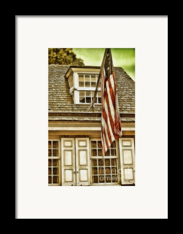 Stars And Stripes Framed Print By Mo T