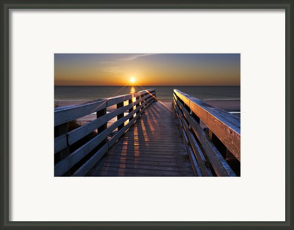 Stars On The Boardwalk Framed Print By Debra And Dave Vanderlaan