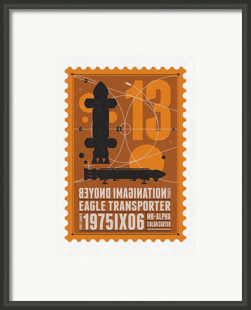 Starschips 13-poststamp - Space 1999 Framed Print By Chungkong Art