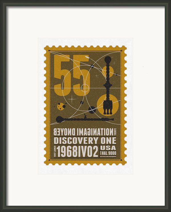 Starschips 55-poststamp -discovery One Framed Print By Chungkong Art