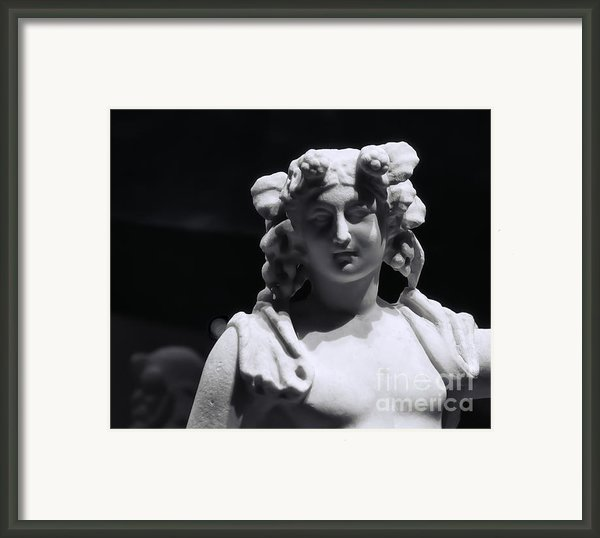 Statue Of Dionysus Framed Print By Catherine Fenner