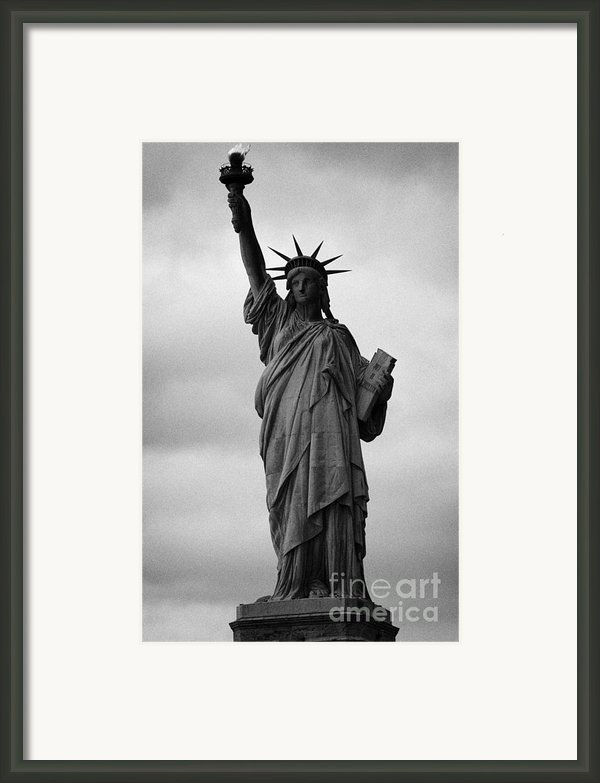 Statue Of Liberty National Monument Liberty Island New York City Nyc Usa Framed Print By Joe Fox