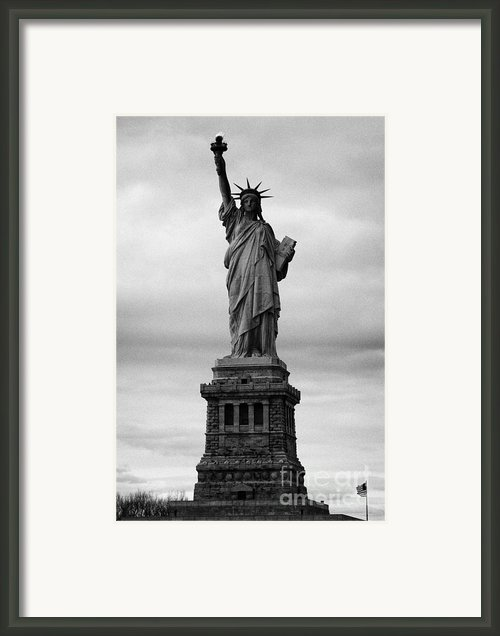 Statue Of Liberty National Monument Liberty Island New York City Usa Nyc Framed Print By Joe Fox